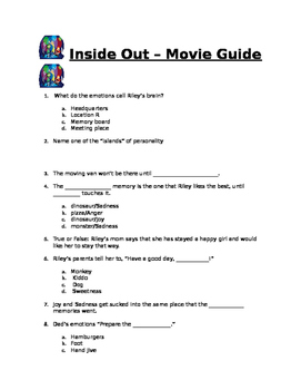 Inside Out - Movie Guide
