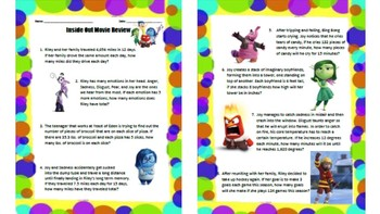 Inside Out Movie Worksheets & Teaching Resources | TpT