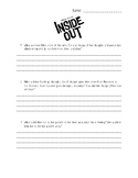 Inside Out Movie Response Worksheet