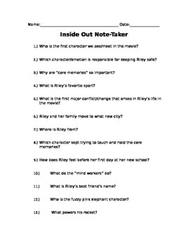 Inside Out Note Taker and Key