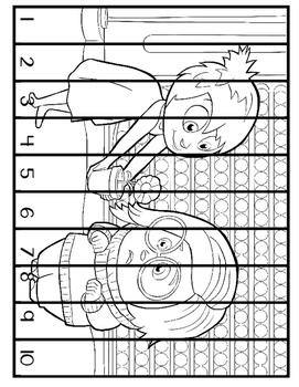 Inside Out  Number Counting Puzzles (1-20)