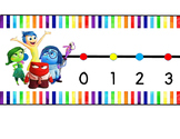 Inside Out Rainbow Wall Number Line 0-120