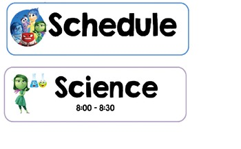 Inside Out Schedule Chart Editable