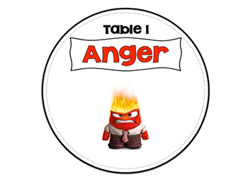 Inside Out Table Signs
