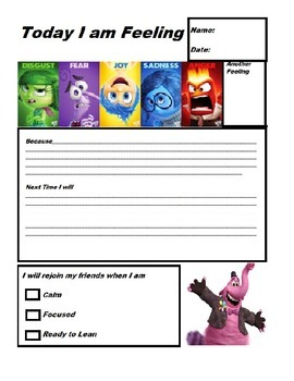 Inside Out Think Sheet