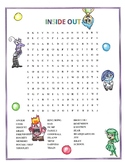 Inside Out Activity Movie Word Search Disney
