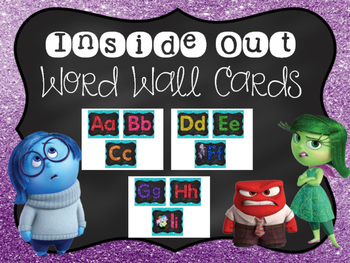 Inside Out Word Wall Cards