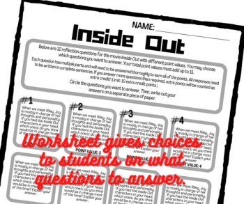 Inside Out Worksheet