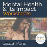 Mental Health & Its Impact on Well-Being Worksheet Inside