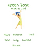 Inside Out Zones of Regulation Signs