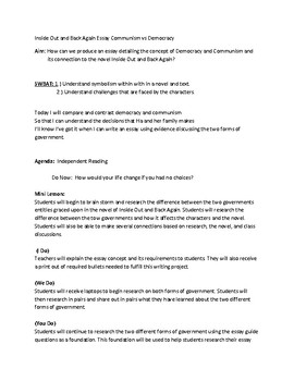 Inside Out and Back Again Communism vs. Democracy Essay
