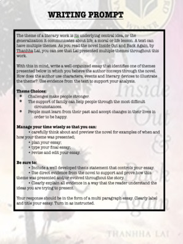 Inside Out and Back Again: Fully Themed, ZERO PREP,  Novel Based Unit