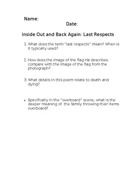 Inside Out and Back Again: Last Respect Poem Analysis
