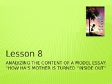 Inside Out and Back Again  Module 1 Unit 2 Lesson 8