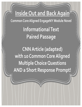 Inside Out and Back Again Nonfiction Article with Questions