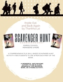 Inside Out and Back Again: Scavenger Hunt for Each Book Pa