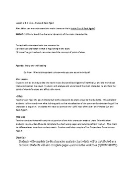 Inside Out and Back Again Unit 1 Lesson 2