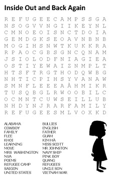 Inside Out and Back Again Word Search