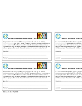 Inside-Outside Circle Formative Assessment Template