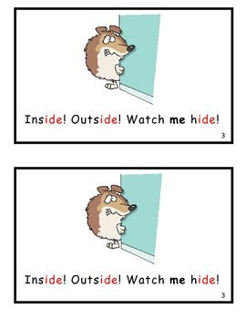 Inside! Outside! You Decide! Guided Reader (-ide Word Family)