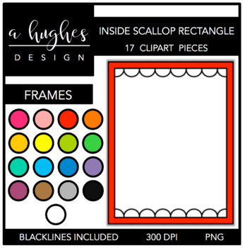 Inside Scallop Rectangle Frames {Graphics for Commercial Use}