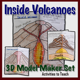Middle School Earth Science: Volcanoes: 3D Foldable Model