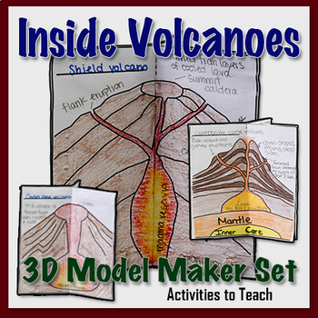 Inside Volcanos - 3D Model Foldable Project for Students