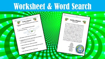 Inside a Magnet No Prep Lesson with Power Point, Worksheet, and Word Search
