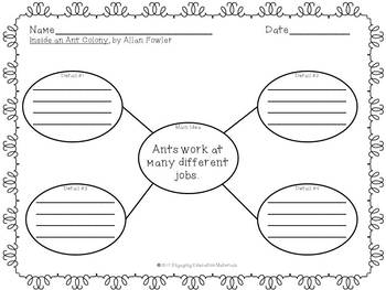 Inside an Ant Colony Writing Activity