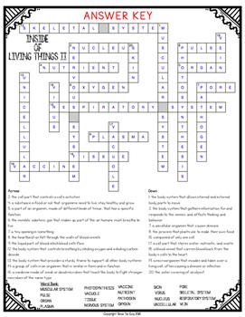 Inside of Living Things Comprehension Crossword Part II