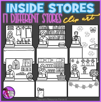 Inside Stores with Cashier Background Scenes