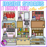 Inside Stores with Cashier Background Scenes realistic clip art