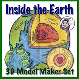 Inside the Earth - 3D Model Foldable Project about the lay