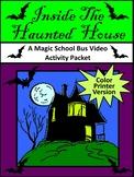Halloween Activities: Magic School Bus Inside the Haunted House Activity - Color