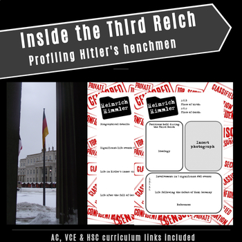 Inside the Third Reich: Profiling Hitler's henchmen (AC,VCE & HSC links)