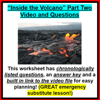 Inside the Volcano Video and questions (Part two of two) GREAT SUB PLANS!