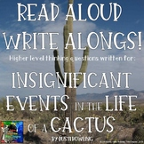 Insignificant Events in the Life of a Cactus Read Aloud Write Along
