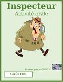 Goûter (Snack foods in French) Inspecteur Speaking activity