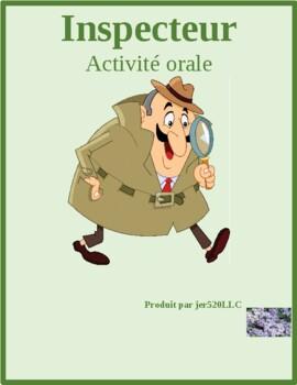 Maison (House in French) Où est Inspecteur Speaking activity