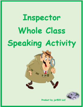 Qui (Who in French) ER verbs Inspecteur Speaking activity