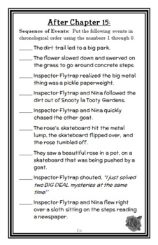 Inspector Flytrap (Tom Angleberger) Novel Study / Comprehension (31 pages)