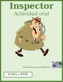 Por y Para Spanish Inspector Speaking activity