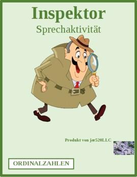 Ordinal numbers German Auf welchem Stock Inspektor Inspector Speaking activity
