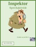 Kleidung (Clothing in German) Inspektor Inspector Speaking Activity
