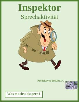 Was machst du gern? (Gern and activities) Inspektor Inspector Speaking activity