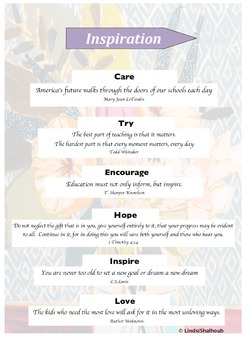 Inspiration Printable with Quotes
