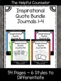 School Counseling Journal - Inspirational Quotes Bundle