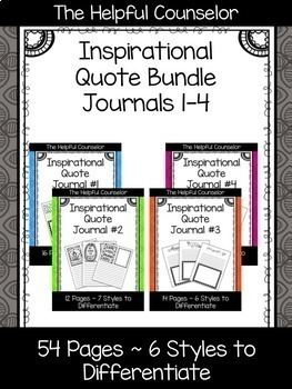 Inspirational Quote Journal Bundle