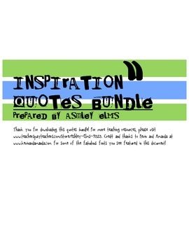 Inspiration Quotes Bundle