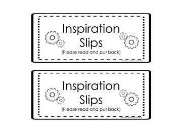 Inspiration Slips for Making and Creating (Makerspace Prompts)